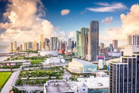Miami, Florida, USA downtown cityscape. Imagens