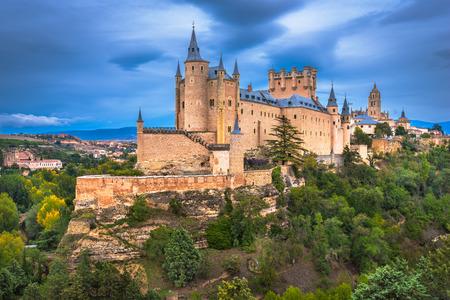 Segovia, Hiszpania na zamku w Segowii.