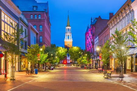 Burlington, Vermont, Estados Unidos en Church Street Marketplace.