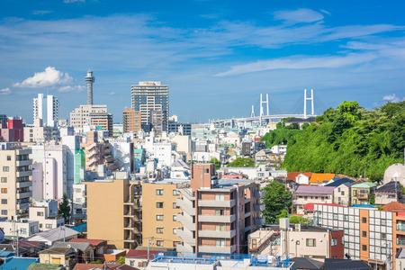 Yokohama, Japan downtown skyline in the afternoon.