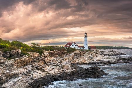 Cape Elizabeth, Maine, USA at Portland Head Light.