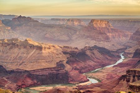 Grand Canyon, Arizona, USA at dawn from the south rim. 版權商用圖片