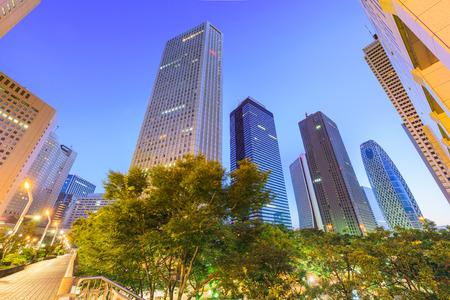 Shinjuku, Tokyo, Japan cityscape past the Metropolitan Government Building in morning.