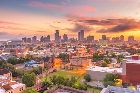 New Orleans, Louisiana, USA downtown city skyline at dawn.