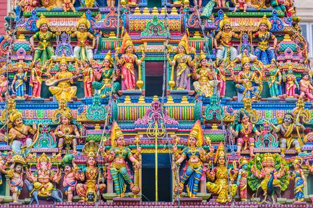 Singapore at Sri Veeramakaliamman Temple. The Hindu Temple dates from 1881.