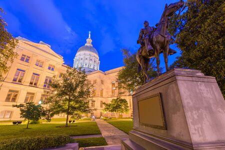 Georgia State Capitol Building in Atlanta, Georgia, USA. (John Brown Gordon statue dates from 1907).