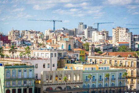 Havana, Cuba downtown skyline on the Malecon.