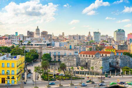 Havana, Cuba downtown skyline on the Malecon. Stock Photo