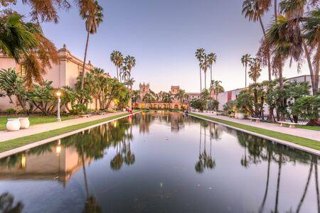 San Diego, California, USA park and square.