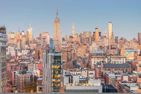 New York City, USA midtown Manhattan skyline at dusk. 写真素材