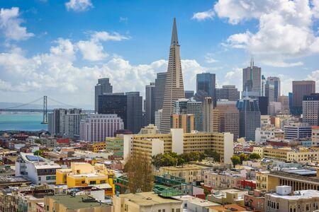 San Francisco, California, USA Skyline in the daytime. Фото со стока