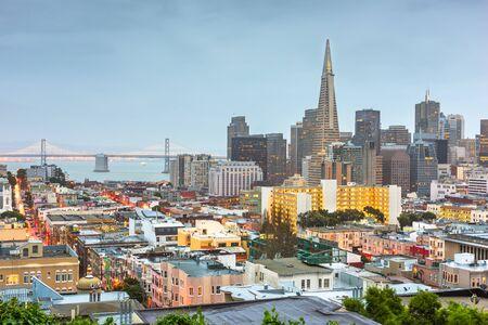 San Francisco, California, USA Skyline at twilight.