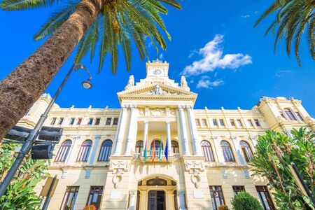 Malaga, Spain city hall Stock Photo