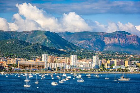 Corsica, France coastal resorts on the Mediterranean. Фото со стока