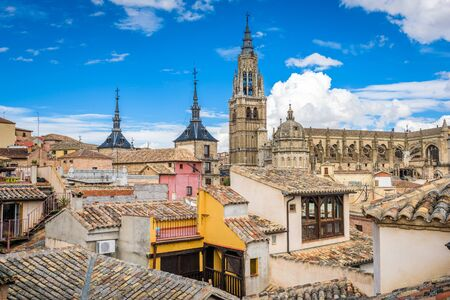 Toledo, Spain old town skyline. Фото со стока