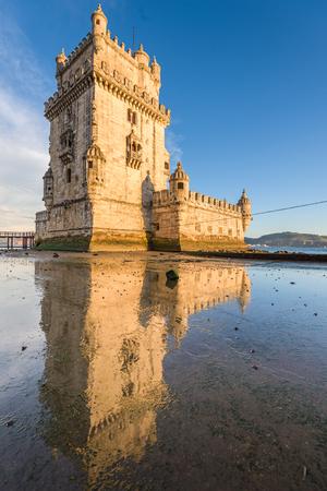 Belem Tower in Belem, Lisbon, Portugal.