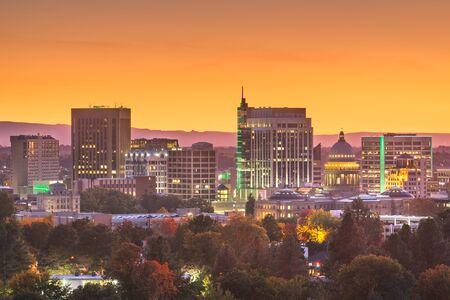 Boise, Idaho, USA downtown cityscape at twilight. Фото со стока