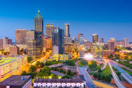 Atlanta, Georgia, USA downtown cityscape from above at twilight. Zdjęcie Seryjne