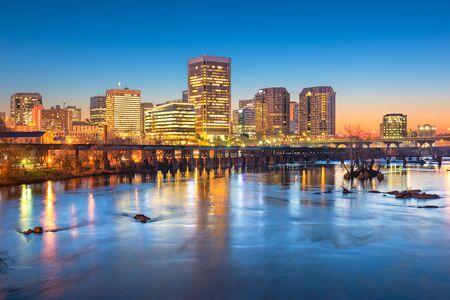 Richmond, Virginia, USA downtown skyline on the James River at twilight. Reklamní fotografie
