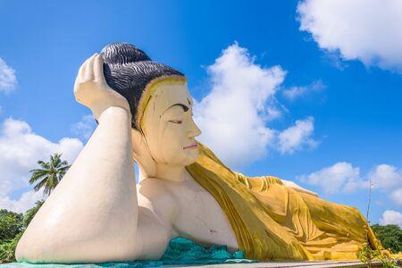 Bago, Myanmar at Mya Tha Lyaung reclining buddha.