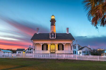 Tybee Island, Georgia, USA at the lighthouse at dusk.