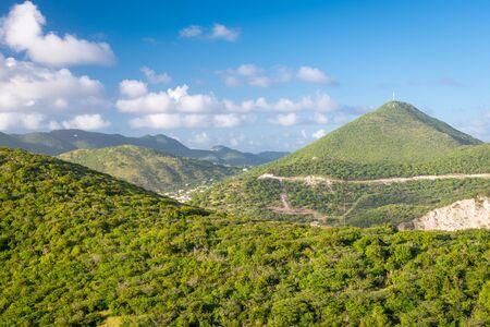 Philipsburg, Sint Maarten, Netherlands Antilles natural landscape. 免版税图像 - 146614940