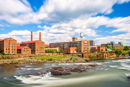 Columbus, Georgia, USA downtown skyline on the river. Zdjęcie Seryjne