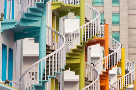 Singapore - Bugis Village spiral staircases.