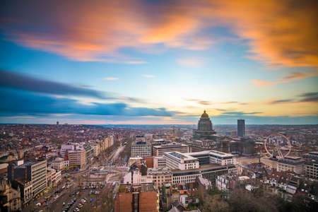 Brussels, Belgium cityscape at Palais de Justice during dusk. 写真素材
