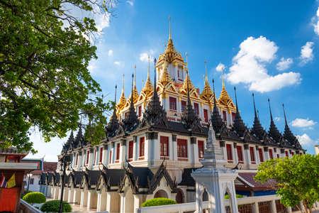 Wat Ratchanatdaram in Bangkok, Thailand in the afternoon. Stok Fotoğraf
