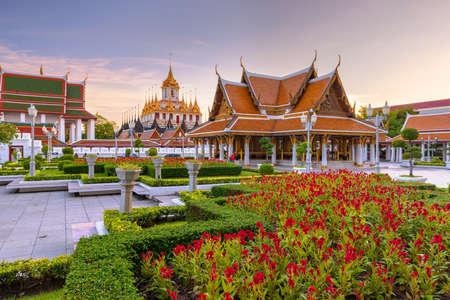 Wat Ratchanatdaram Temple in Bangkok, Thailand.