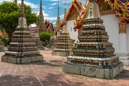 Wat Pho Temple in Bangkok, Thailand chedi in the afternoon. Stok Fotoğraf