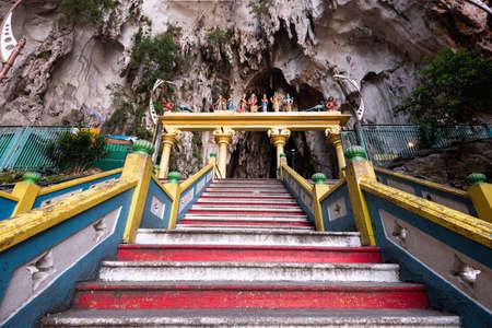 Batu Caves statue and entrance near Kuala Lumpur, Malaysia. Stok Fotoğraf