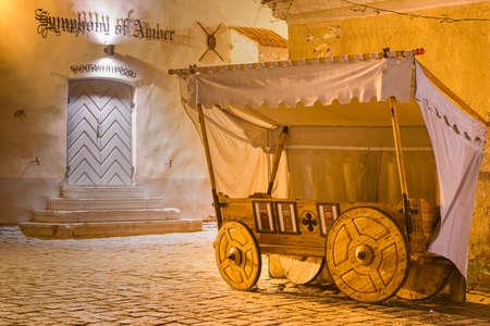 Historic Tallinn Souvenirs and Shops at Night Editöryel