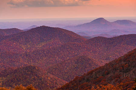 Blue Ridge Mountains at Sunset in North Georgia Banco de Imagens - 151094262