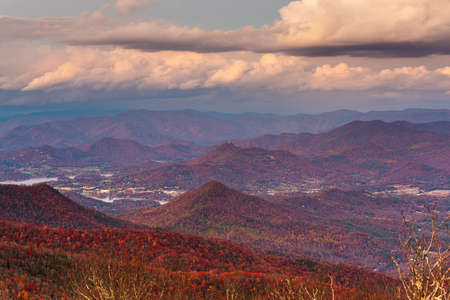 Blue Ridge Mountains at Sunset in North Georgia Banco de Imagens - 151096223