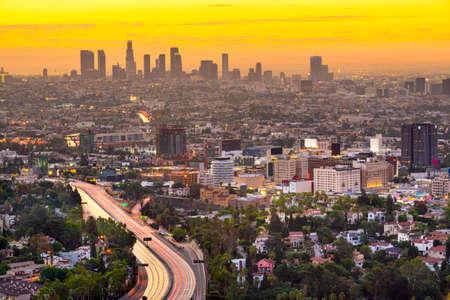 Los Angeles, California, USA Downtown City Skyline