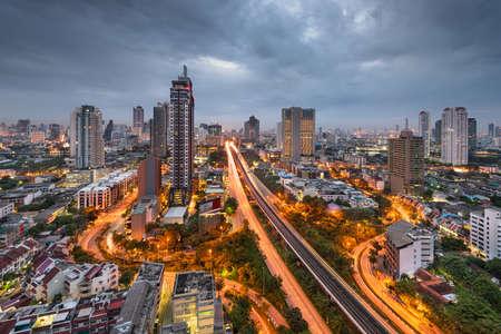 Bangkok, Thailand Cityscape from Above at Dusk