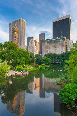 New York, New York, USA Central Park South skyline from Central Park