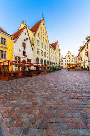 Tallinn Estonia Old Town Cityscape Stok Fotoğraf