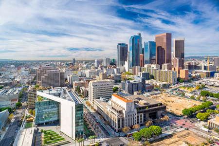 Los Angeles, California, USA Downtown Aerial Cityscape Stok Fotoğraf