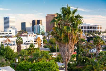 Beverly Hills, California, USA Rooftop Skyline
