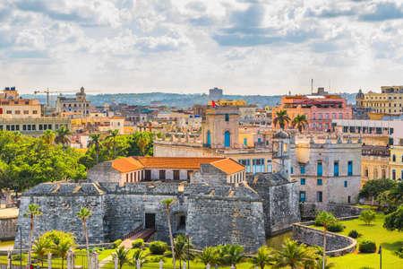 Havana, Cuba old town skyline in the daytime.
