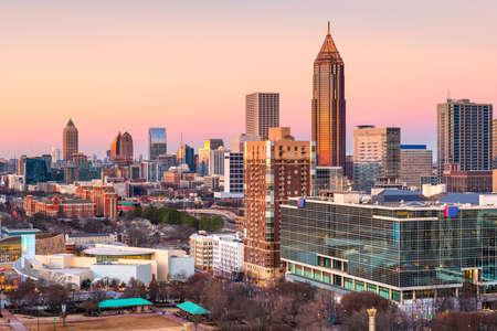 Atlanta, Georgia, USA downtown skyline at twilight.