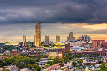 Albany, New York, USA Skyline at dusk.