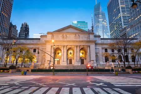 New York Public Library in New York, New York, USA.