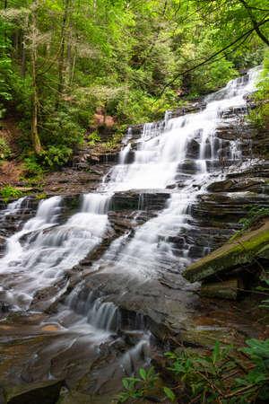 Minnehaha Falls, Rabun County, Georgia on Falls Creek. Stok Fotoğraf