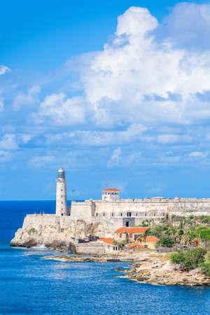 Havana, Cuba light house of La Cabana Fort.
