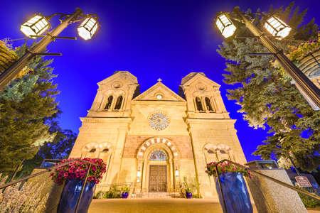 Cathedral Basilica of St. Francis of Assisi in Santa Fe, New Mexico, USA.