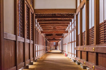 TAKAOKA, JAPAN - JANUARY 30, 2017: An interior hallway of Zuiryuji Temple. The complex dates from 1613.